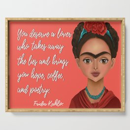 Frida Kahlo Quote Serving Tray