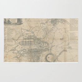 Vintage Map of Edinburgh Scotland (1818) Rug