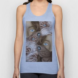 BUTTERFLY FACE Unisex Tank Top