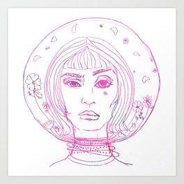 Barbarella Space Princess Art Print