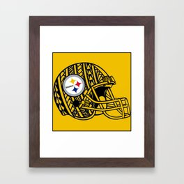 Polynesian style Steelers Framed Art Print