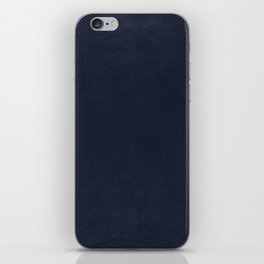 Leather navy BEAUTY iPhone Skin