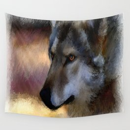 autumn wolf Wall Tapestry