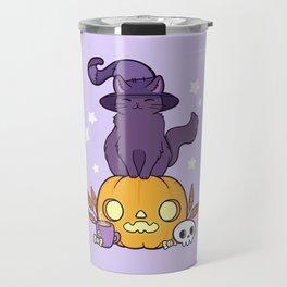Pumpkin Cat Travel Mug