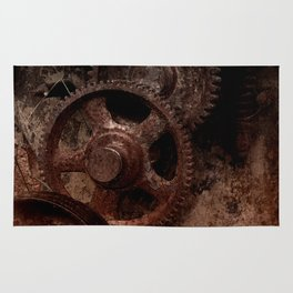 Gear mechanism shady Rug