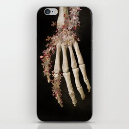 """""""Spring 1"""" skull and flowers iPhone Skin"""