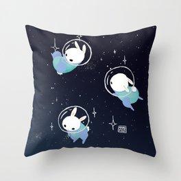 Space Bunnies Throw Pillow
