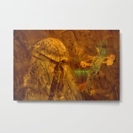 the cellist Metal Print