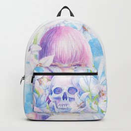 Angel or Devil - Dove, Lily, Skull Backpack