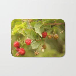 Sweet Raspberry Branches #decor #society6 Bath Mat