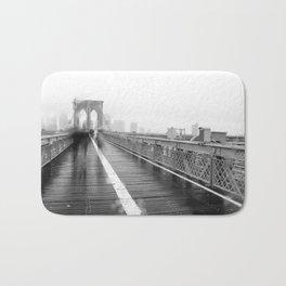 Brooklyn Bridge and Rain Bath Mat
