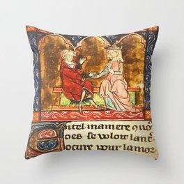 Arthur Legend 2 Lancelot and Guenevere Throw Pillow