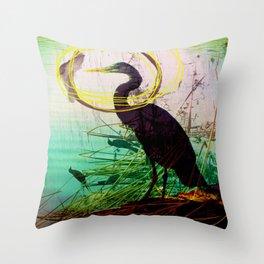 The crane series Throw Pillow