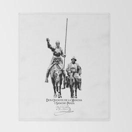 Don Quixote de la Mancha y Sancho Panza-Cervantes-Spain-Literature-Chivalry, Knighthood Throw Blanket