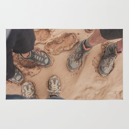 Put on Your Hiking Shoes Rug
