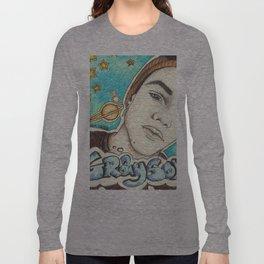Grayson Dolan galaxy background Long Sleeve T-shirt
