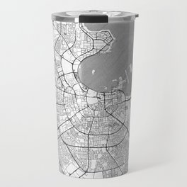Doha Map Line Travel Mug