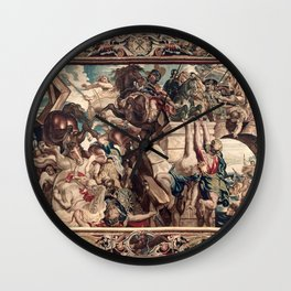 Triumph of Constantine over Maxentius at the Battle of the Milvian Bridge Wall Clock