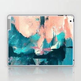 Sugar: a fun, minimal mixed-media abstract piece in pinks and blues Laptop & iPad Skin