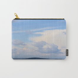 Blue Lakescape With White Clouds In The Blue Sky #decor #society6 Carry-All Pouch