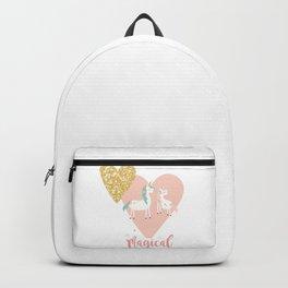 Magical Unicorn Valentine Couple Backpack