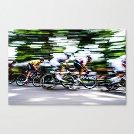 The Yellow Jersey. Colorado- USA Pro Cycling Challenge. Canvas Print