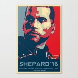 Shepard '16 - Mass Effect Canvas Print