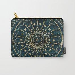 Geometric tribal gold mandala Carry-All Pouch