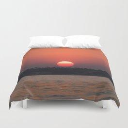 Really red sun Duvet Cover