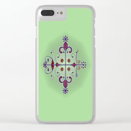 Voodoo Symbol Papa Legba Clear iPhone Case