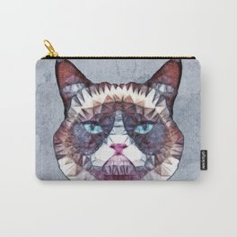 abstract grouchy cat Carry-All Pouch