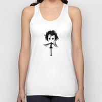 edward scissorhands Tank Tops featuring EDWARD SCISSORHANDS by Raimondo Tafuri