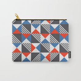 Geometric Triangle Lines Pattern Carry-All Pouch