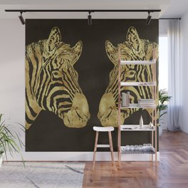 Golden Zebra African wildlife Wall Mural