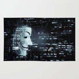 hacker background Rug