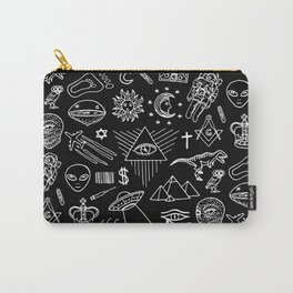 Conspiracy pattern Carry-All Pouch