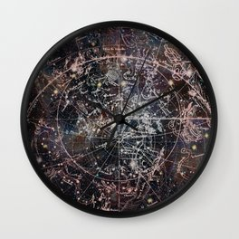 Celestial Charts II Wall Clock