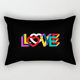 IN LOVE ANYTHING GOES ! Rectangular Pillow