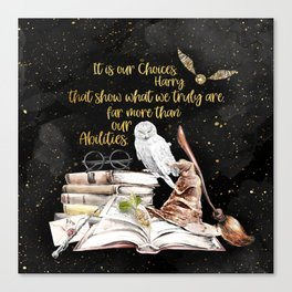 Our Choices - Golden Dust Canvas Print