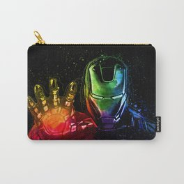 Avenger Infinity Wars Iron Man Abstract Painting - Iron Man Graffiti Carry-All Pouch