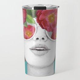The optimist // rose tinted glasses Travel Mug