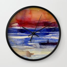 Sunset at Key West Wall Clock