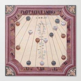 Sun Calendar, France Canvas Print