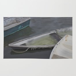 Cape Porpoise Dories Rug