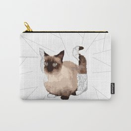 Geometric Animal - Munchkin Cat Carry-All Pouch