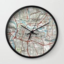 Sacramento California Map (1994) Wall Clock