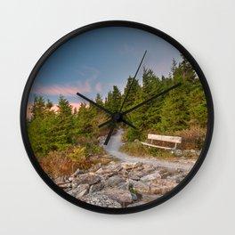 Spruce Knob Twilight Trail Wall Clock