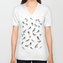 I love birds Unisex V-Neck