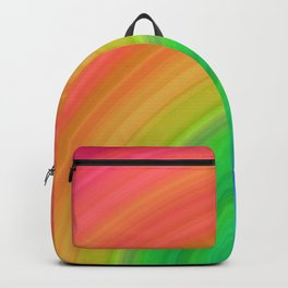 Bright Rainbow   Abstract gradient pattern Backpack