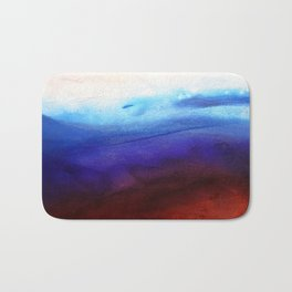Ruby Tides - Original Abstract Art Bath Mat